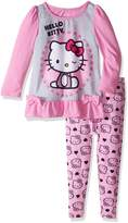 Hello Kitty Little Girls' Toddler 2 Piece Sleepwear Legging Set
