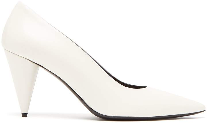 The Row Point-toe leather pumps