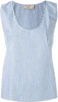 MAISON KITSUNÉ striped vest - women - Cotton - 38