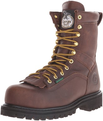 "Georgia Boot Men's 8"" Lace-to-Toe Steel Toe Work Boot Work Shoe"