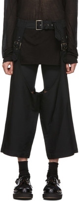 Comme des Garcons Black Deconstructed Pin-Buckle Trousers