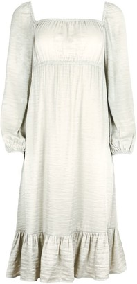 Blonde Gone Rogue Sustainable Empire Dress In Silver