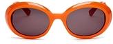 Moschino Cutout Logo Oval Sunglasses, 52mm