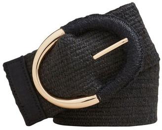 Seed Heritage Oval Buckle Waist Belt Black