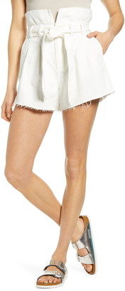 Blank NYC Paperbag Waist Belted Shorts