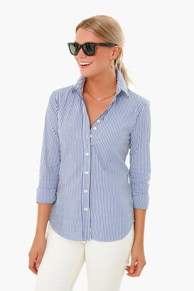 The Shirt By Rochelle Behrens Striped Essential Icon Shirt