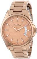 Lucien Piccard Men's 98660-RG-99 Excalibur Rose Textured Dial Rose Gold Ion-Plated Stainless Steel Watch