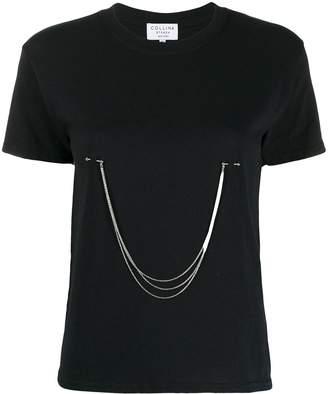 Collina Strada chain-embellished slim-fit T-shirt
