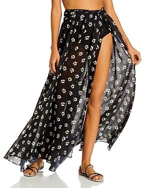 Caroline Constas Hera Printed Cover Up Maxi Skirt