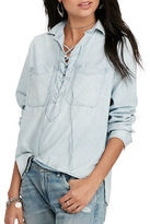 Denim & Supply Ralph Lauren Lace-Up Chambray Shirt