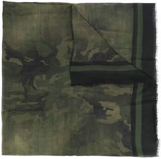 Ermanno Scervino camouflage print scarf