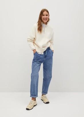 MANGO Waist straight Baggy jeans