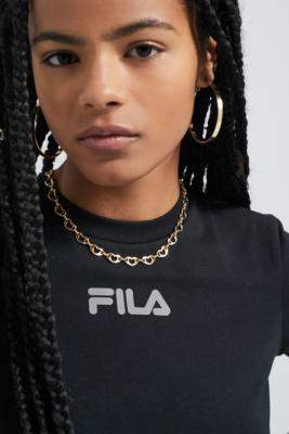 Fila UO Exclusive Cristina Crossover Top - black XS at Urban Outfitters