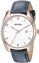 Nixon Women's A4732160 Bullet Watch With Blue Leather Band