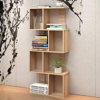 Ebern Designs Lilianna 4 Tier Shelves Display Bookcase Desk Organizer Storage Wood Closet Multi Units Deluxe Free Stand Racks Home Office Ebern Designs