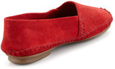 Jacques Levine Davies Topstitched Moccasin, Red
