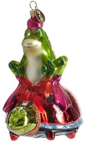 Patience Brewster Frog on Ladybug Glass Ornament