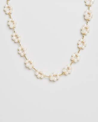 Reliquia Jewellery Daisy Chain Pearl & Gold Necklace