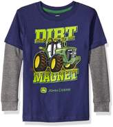 John Deere Little Boys' Toddler Dirt Magnet Thermal Tee