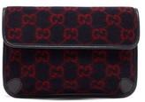 Gucci GG Monogram Wool Belt Bag - Mens - Blue Multi