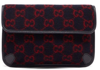Gucci GG Monogram Wool Belt Bag - Blue Multi