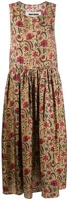 UMA WANG Sleeveless Pleated Skirt Dress