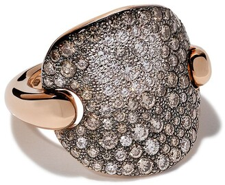 Pomellato 18kt rose gold Sabbia diamond ring