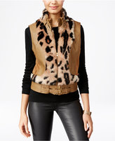 XOXO Juniors' Faux-Fur-Trim Moto Vest