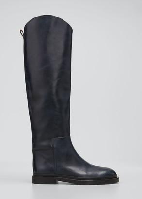 Jil Sander Asymmetrical Leather Riding Boots