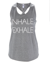 L.A. Gear Charcoal Heather 'Inhale Exhale' Twist-Back Tank