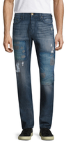 True Religion Rocco Distressed Slim Fit Jeans