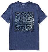 Calvin Klein Jeans Gradient Sun Graphic Crewneck Short-Sleeve Tee