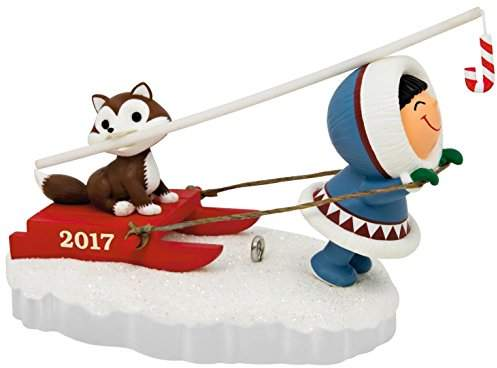 Hallmark Keepsake 2017 Frosty Friends Dog Sled Christmas Ornament