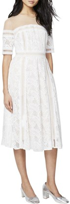 Rachel Roy Women's Off The Shoulder Embroidered Lace Dress