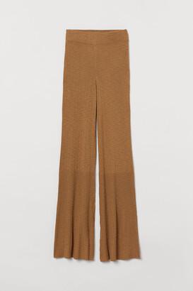 H&M Rib-knit trousers
