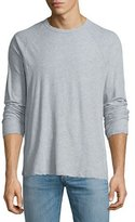 James Perse Melange Jersey Raglan T-Shirt, Light Blue