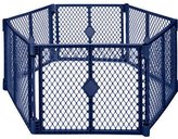 Generic Manufacturer North State Blue 6-panel to 8-panel Extendable Baby Gate Play Yard Play Pen by Unknown