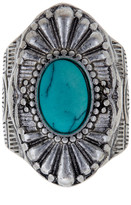Stephan & Co Fluted Turquoise Stone Ring - Size 7