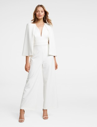 Forever New Yvette Cape Jumpsuit - Porcelain - 4
