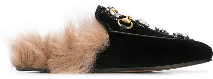 023272fb8 Gucci Fur Loafers - ShopStyle