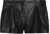Naples leather shorts