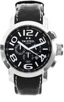 TW Steel Men's TW 51 Grandeur Leather Chronograph Dial Watch