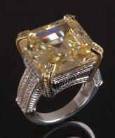 canary crystal and diamond 'Montana' ring