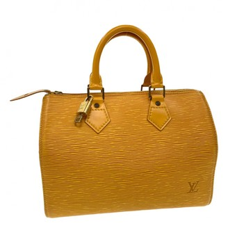 Louis Vuitton Speedy Doctor 25 Yellow Leather Handbags