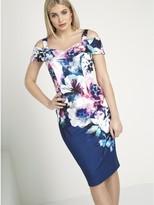 M&Co Roman Originals cold shoulder scuba dress