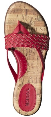 Essie Women's Merona Woven Upper Slide Sandal - Red