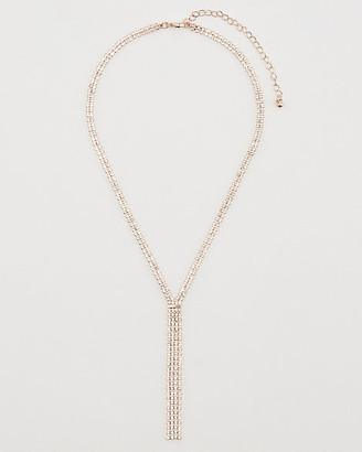 Le Château Gem Encrusted Fringe Necklace