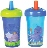 The First Years Simple Straw Cup - Blue with Pink - 9 oz - 2 ct