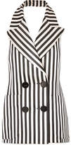 Petar Petrov Striped Duchesse Silk-satin Vest - Cream