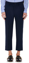 Gucci Men's Wool-Mohair Slouchy Crop Trousers-NAVY